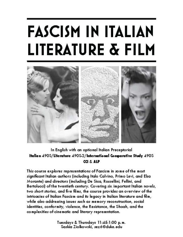 Ziolkowski Flyer_Fascism_in_Italian_Literature_&_Film