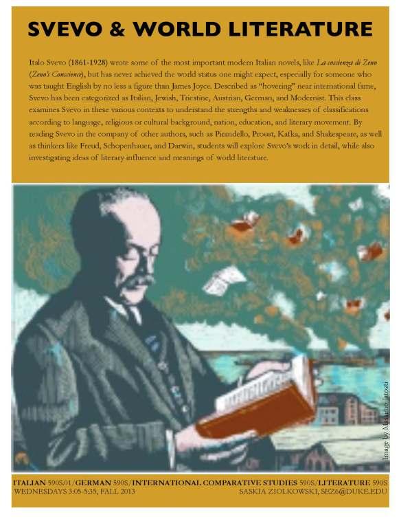 ziolkowski svevo and world literature flyer