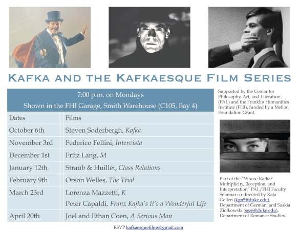 Kafka poster film series
