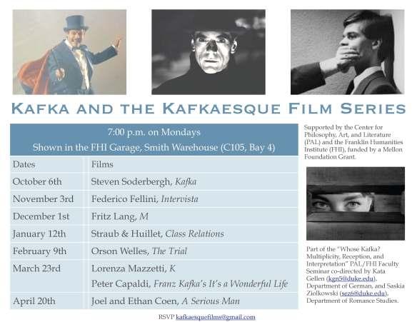 Kafka poster film series