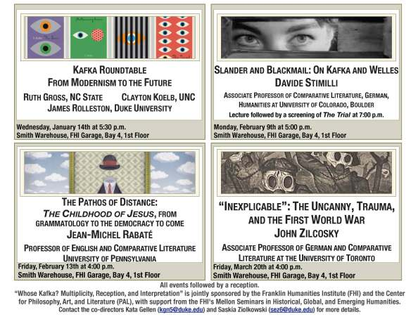 Whose Kafka? Spring Lectures