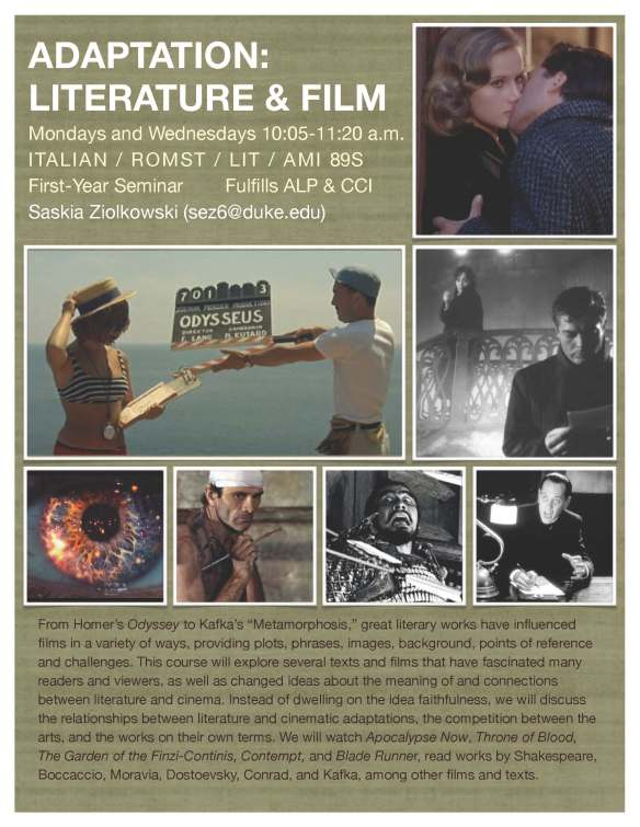 Ziolkowski, Adaptation Literature & Film
