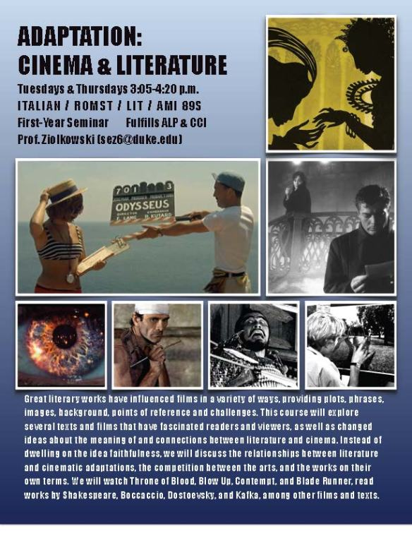 literature and cinema Literature and cinema 1 like the present anthology is a collection of fourteen research papers these papers not only focus on the amalgamation of.