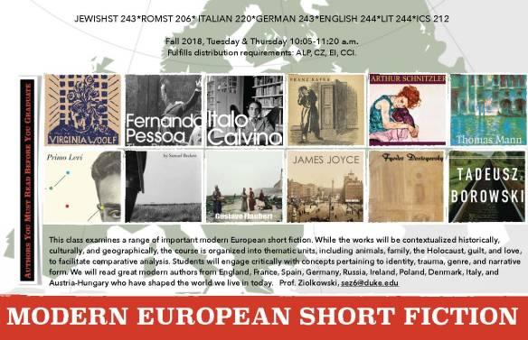 European Short Fiction poster horizontal